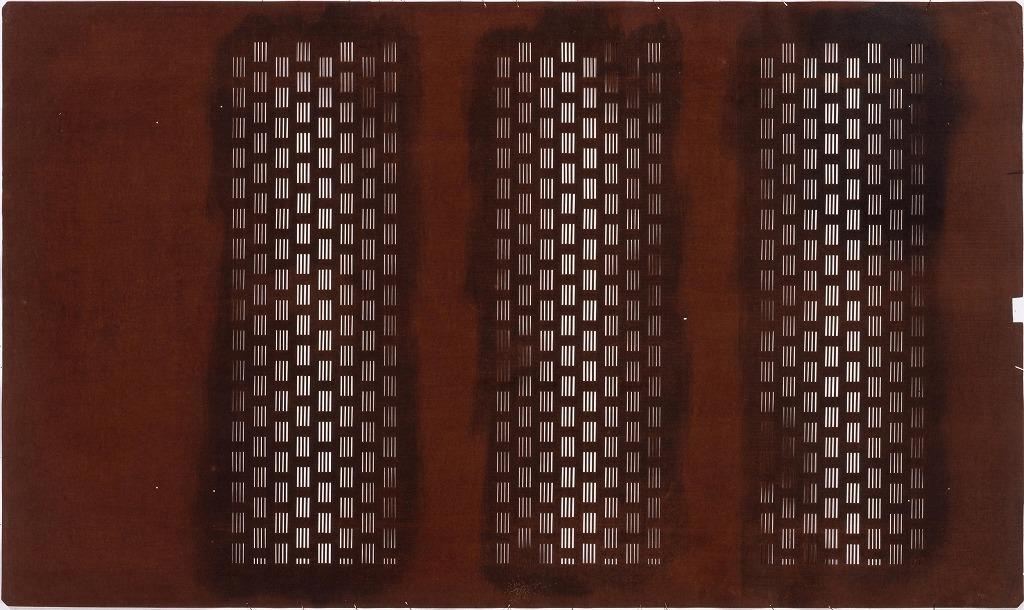 作品画像:長板中形型紙 横段 算くずし(大判 追掛)
