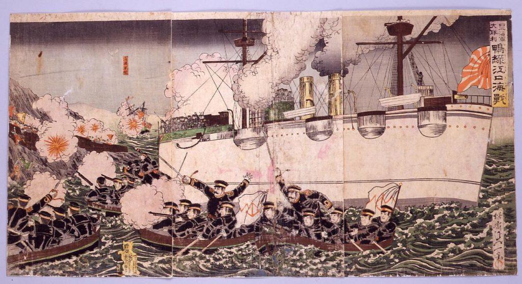 作品画像:日本海軍大勝利 鴨緑江口海戦