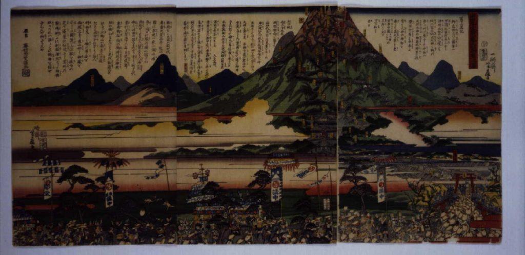 作品画像:庚申年富士山参詣群集之図