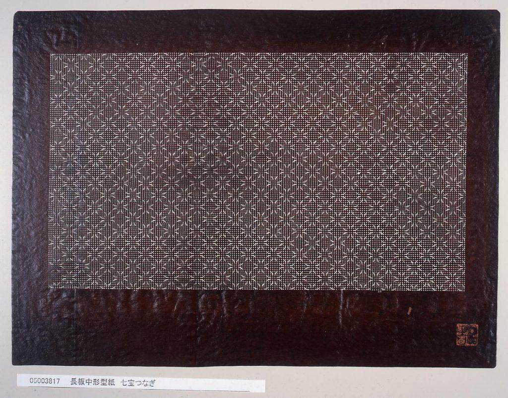 作品画像:長板中形型紙 七宝つなぎ