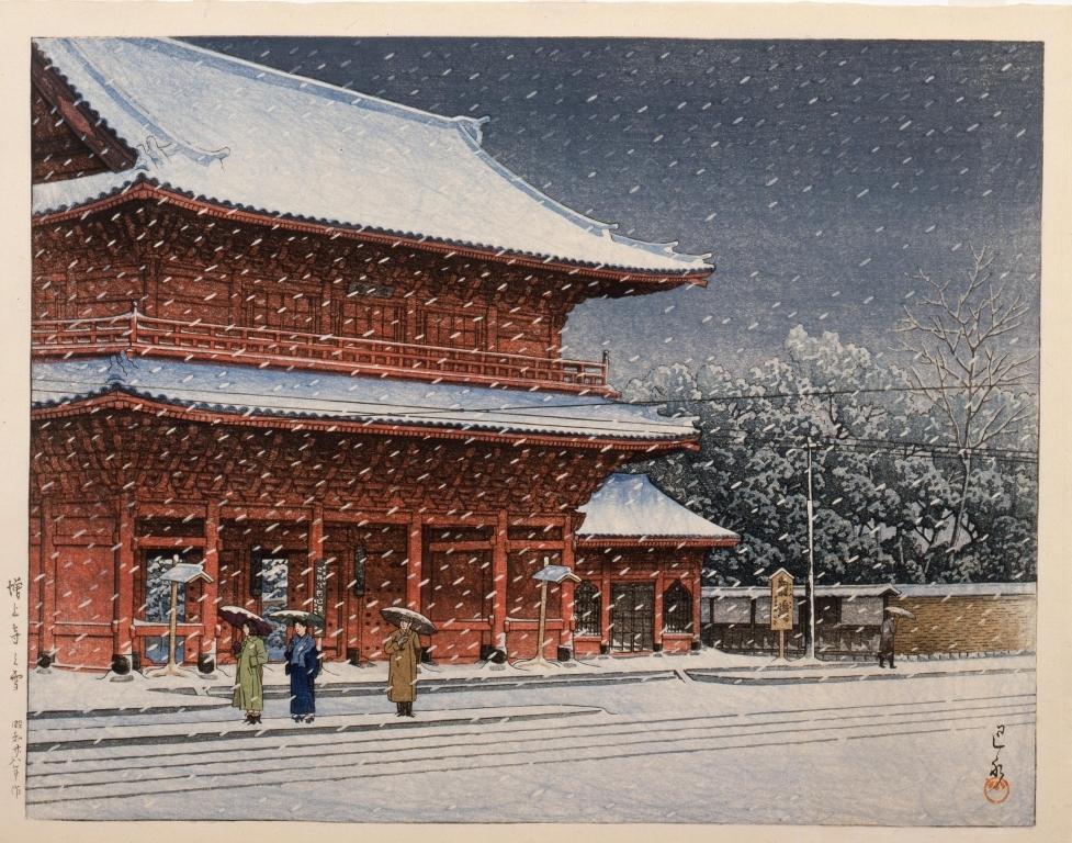 作品画像:増上寺の雪