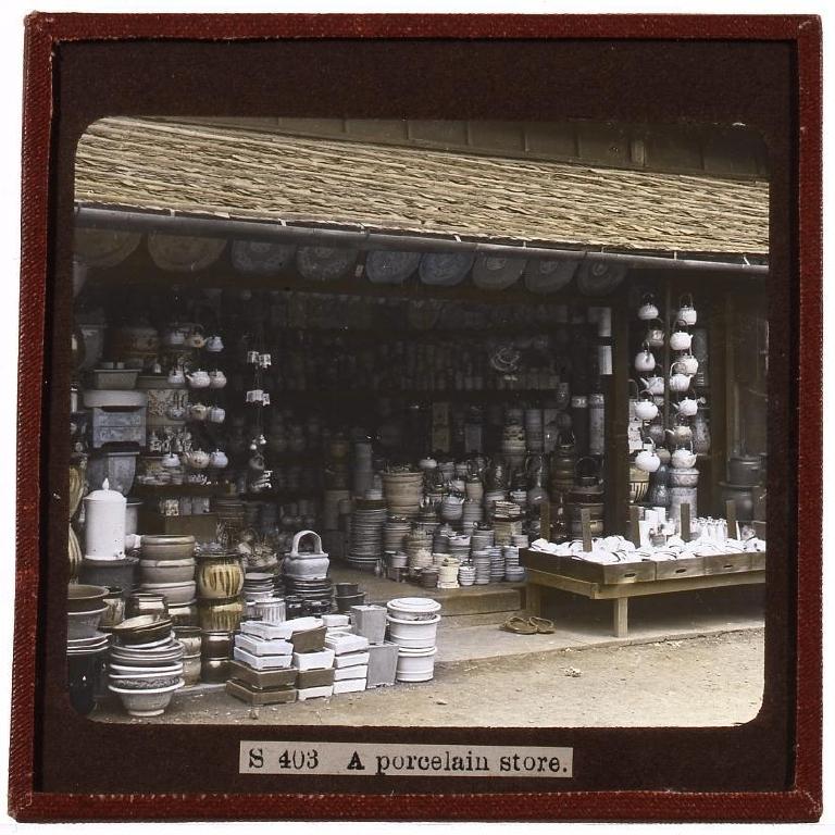 作品画像:陶器店