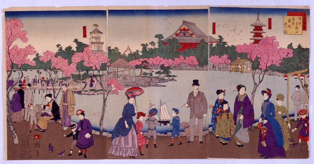 作品画像:東京名所浅草金龍山遠景新開池之図