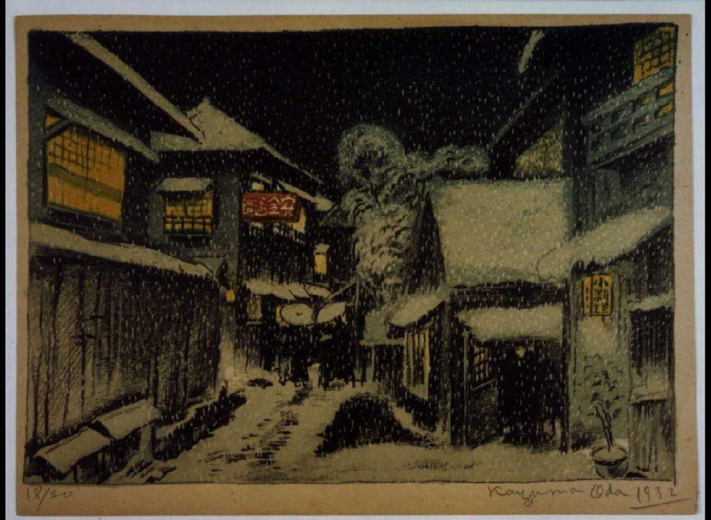 作品画像:東京新近郊八景 8 玉乃井の雪景
