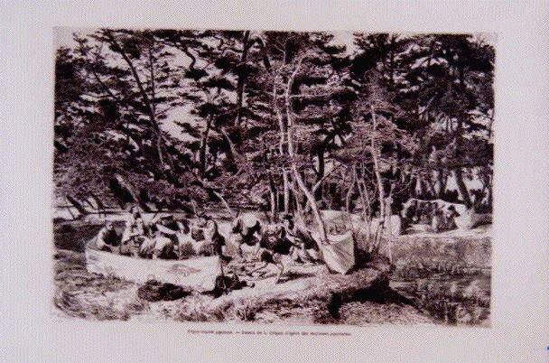 作品画像:アンベール「幕末日本図絵」挿絵 物見遊山,奇跡の水を溜める神木