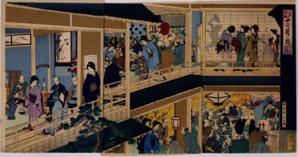 作品画像:江戸風俗十二ヶ月 十月