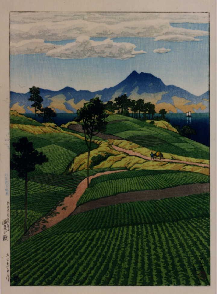 作品画像:日本風景選集 七 天草より見たる温泉ケ嶽