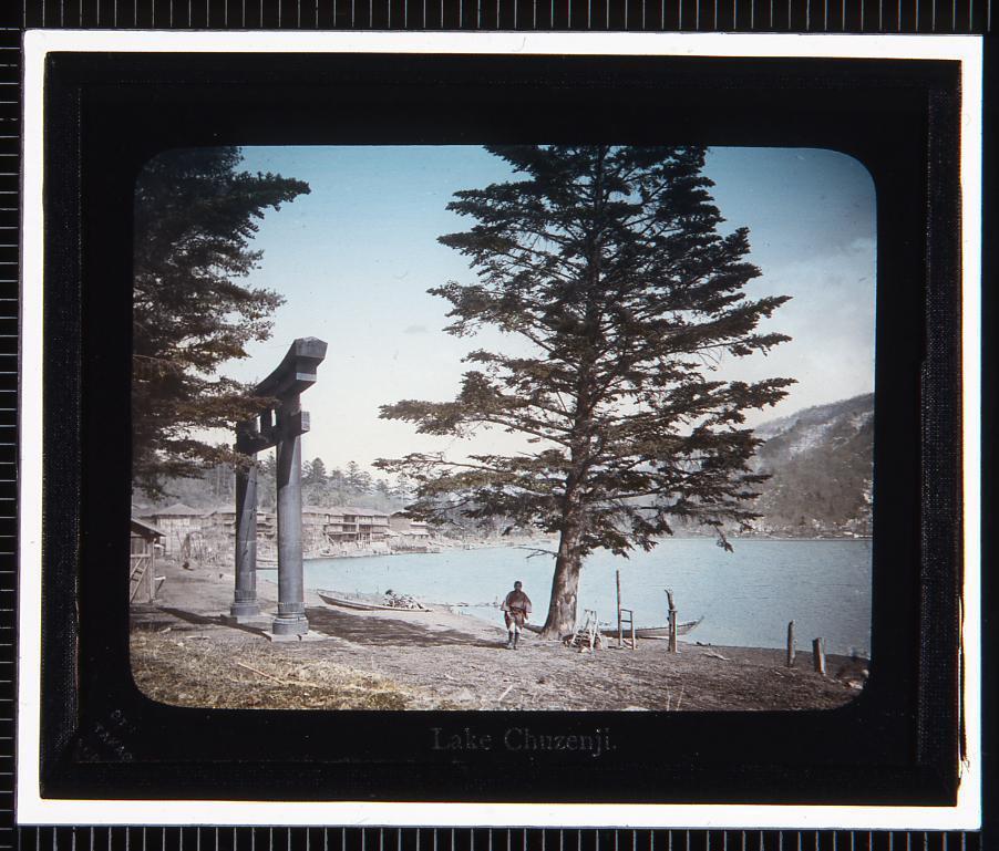 作品画像:日光 中禅寺湖(幻灯原板)