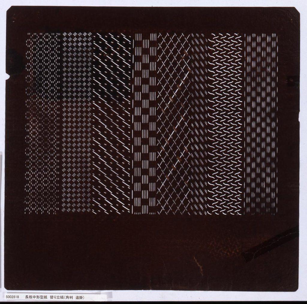 作品画像:長板中形型紙 替り立縞(角判 追掛)