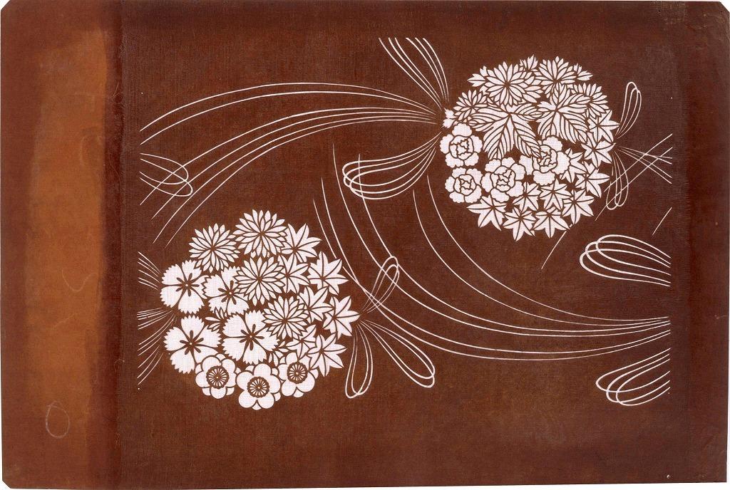 作品画像:長板中形型紙 くす玉