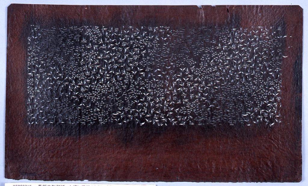 作品画像:長板中形型紙 小蝶に花枝(小判 追掛)