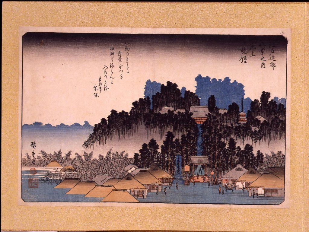 作品画像:江戸近郊八景 池上晩鐘
