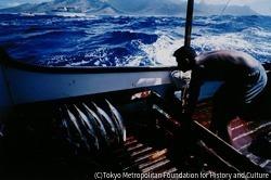 作品画像:漁をする人