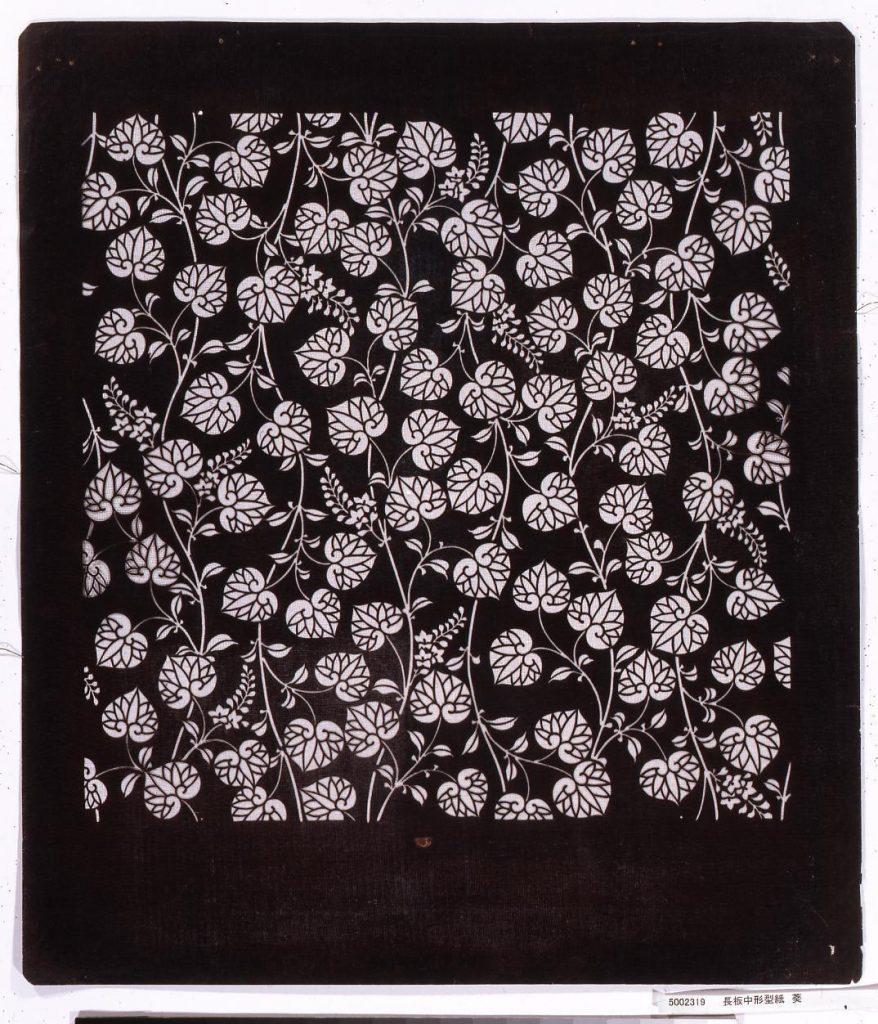 作品画像:長板中形型紙 葵