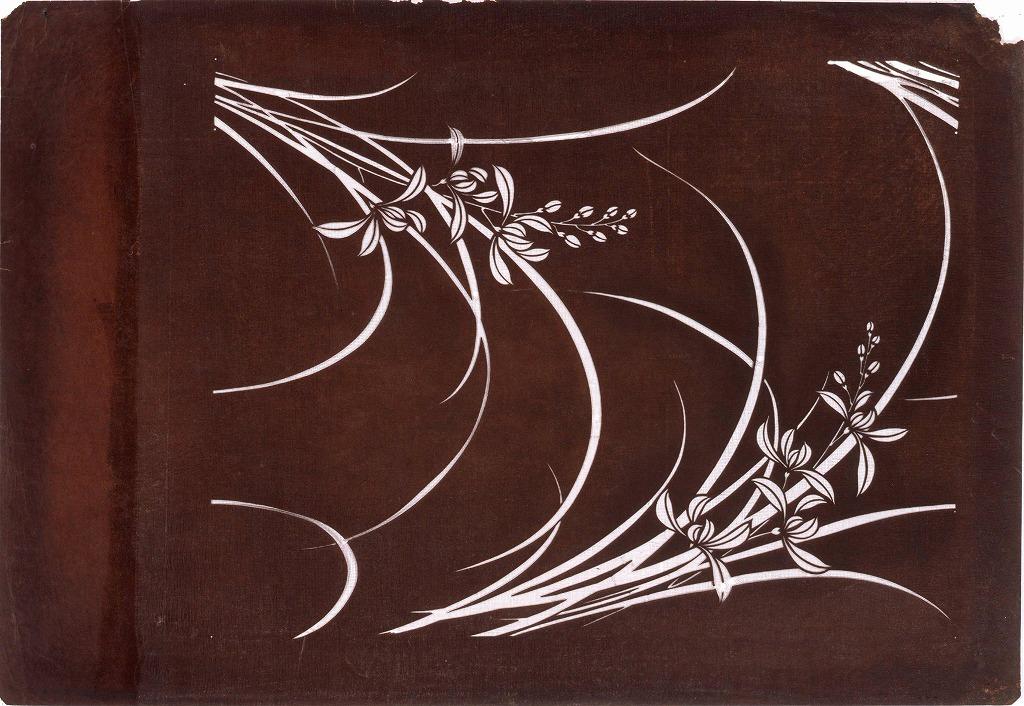 作品画像:長板中形型紙 蘭