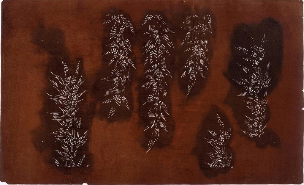 長板中形型紙 竹(大判 追掛)
