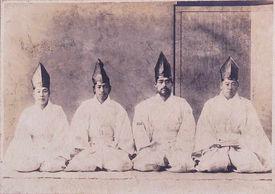 作品画像:勝海舟葬儀の陪柩者たち