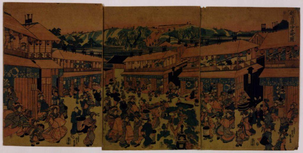 作品画像:新吉原中之町の図