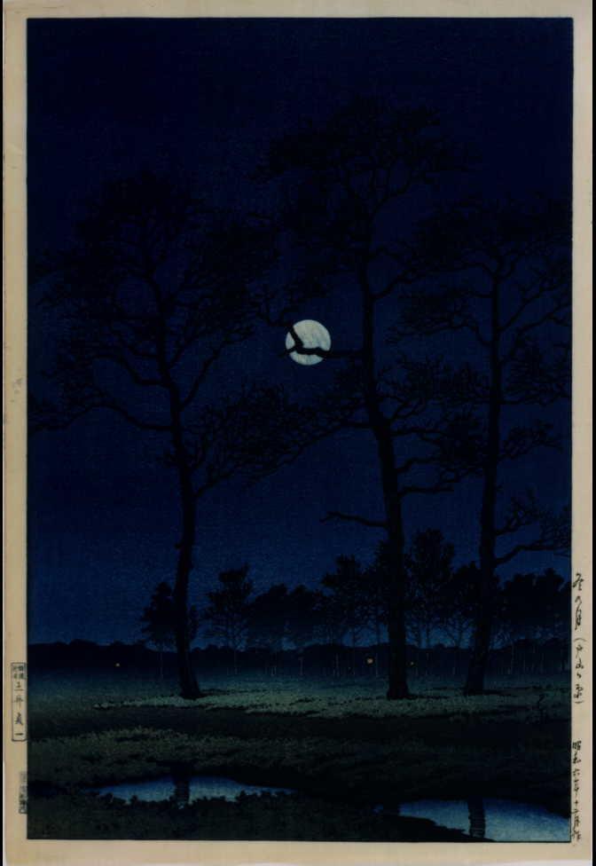 作品画像:冬の月(戸山ヶ原)