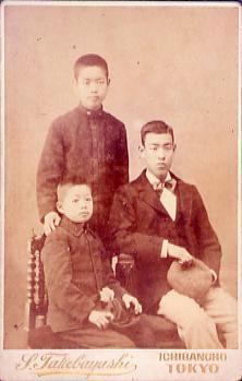 作品画像:永井荷風家族写真(荷風青年時)
