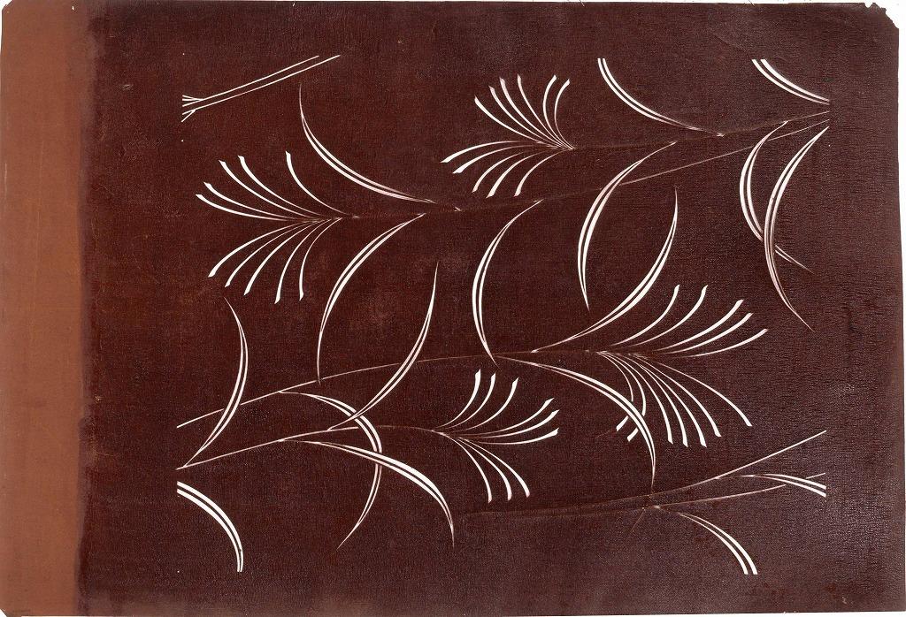 作品画像:長板中形型紙 すすき