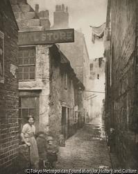 作品画像:古い小路、ハイ・ストリートの裏通り