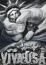 作品画像:(VIVA USA 握り潰された自由の女神)