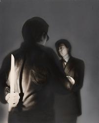 作品画像:(ナイフを持つ男と向き合う男)