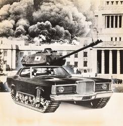 作品画像:(戦車と黒煙)