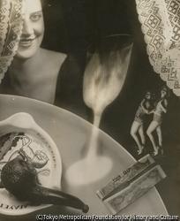 作品画像:パイプとグラスと紙幣