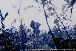 作品画像:ナイジェリア軍の機関銃に左胸を撃ち抜かれて倒れるビアフラ軍の兵士