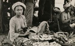 作品画像:バリ島市場風景