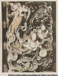 作品画像:15. 天人の木彫の細部 日光
