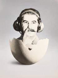 作品画像:(スターリンと卵の殻)