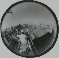 作品画像:魚眼レンズによる東京ビュー