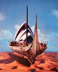 作品画像:(砂漠 船)