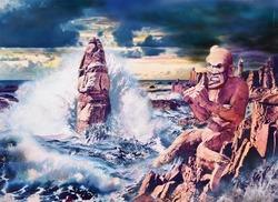 作品画像:海馬を馴らす