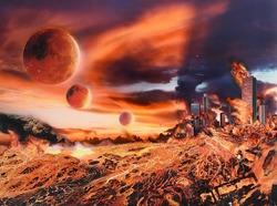 作品画像:静かに燃える街