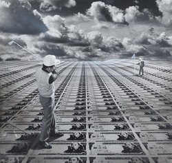 作品画像:日本のゴルフ場