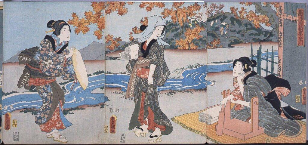 作品画像:錦絵版画帖 ー 摂津国梼衣の玉川