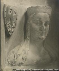 作品画像:エリーザベト・フォン・ポンメルン、カール4世の4番目の妃、大聖堂の高窓の胸像