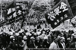 作品画像:コザ・全軍労デモ