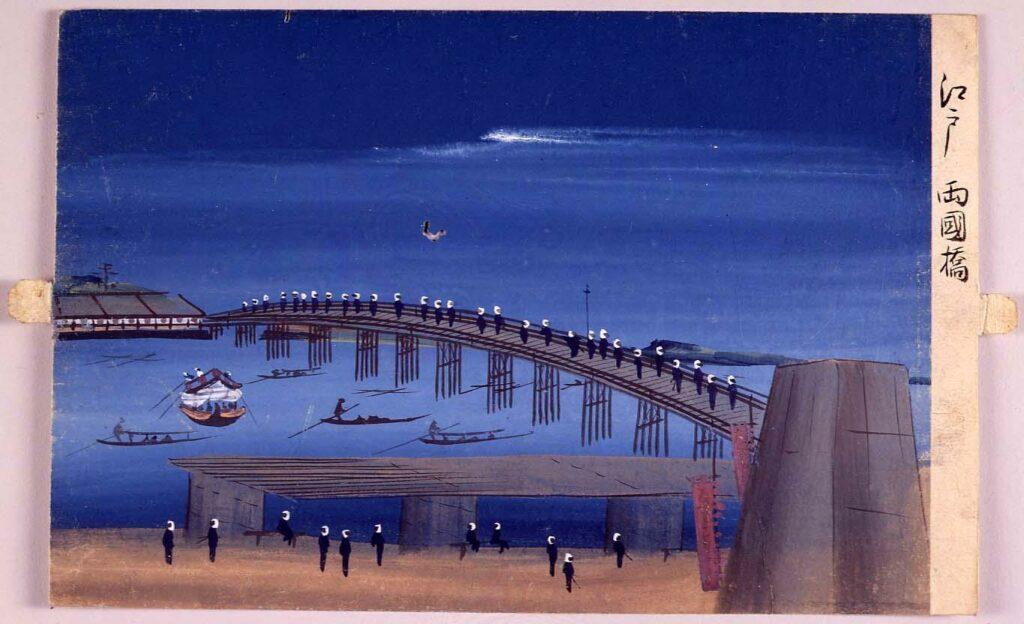 作品画像:泥絵 江戸両国橋