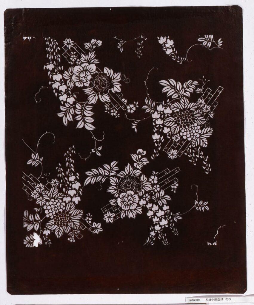 作品画像:長板中形型紙 花筏