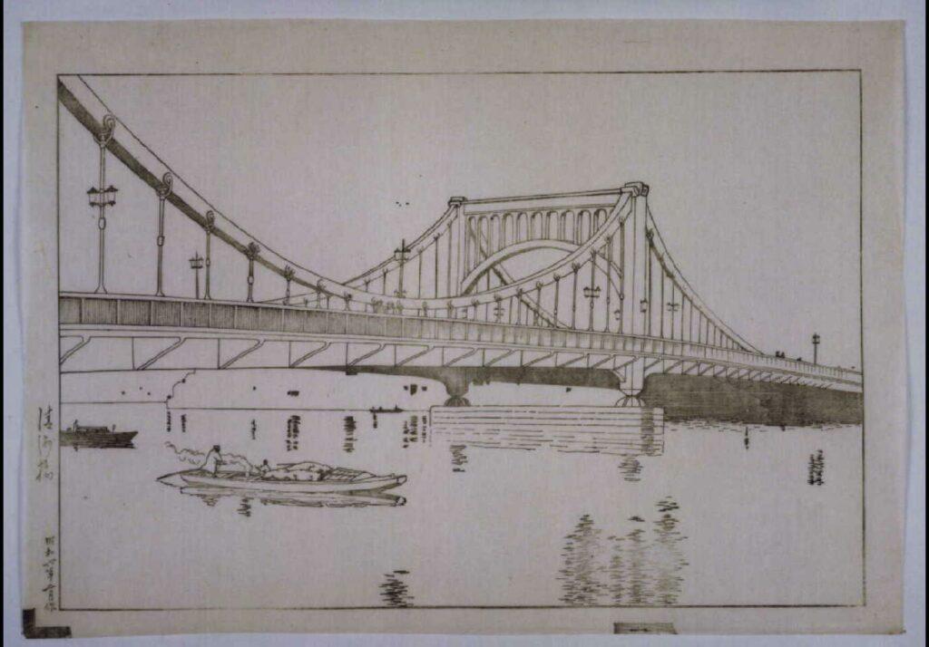 作品画像:清洲橋の夕 校合摺