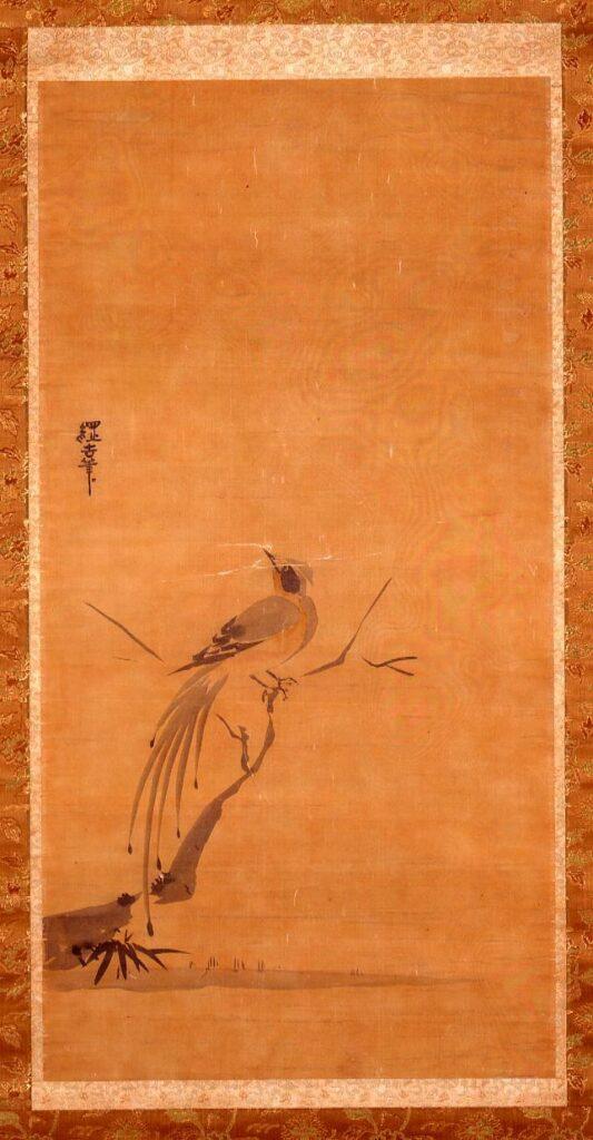 作品画像:徳川綱吉筆 練鵲図