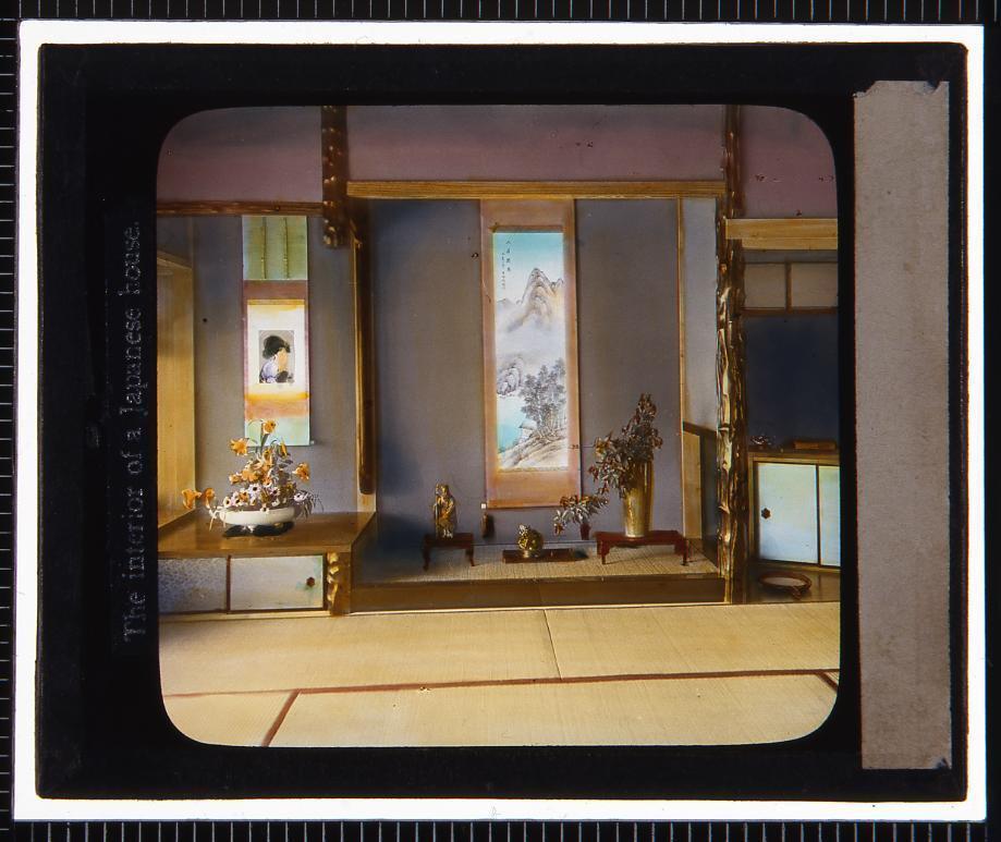 作品画像:日本家屋 室内(幻燈原板)