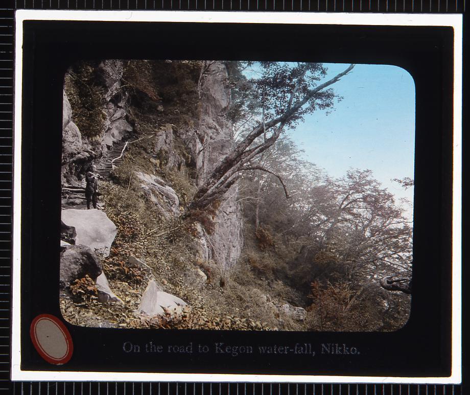 作品画像:日光 華厳の滝への道(幻灯原板)