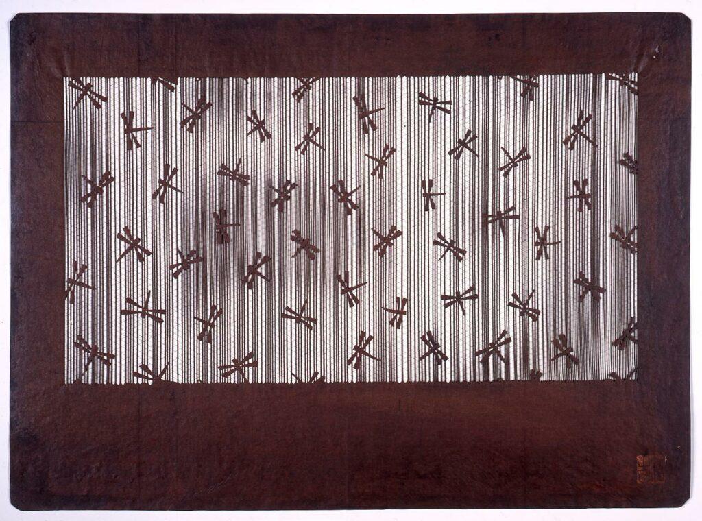 作品画像:長板中形型紙 蜻蛉