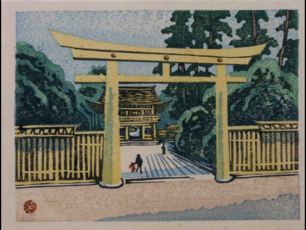 作品画像:東京回顧図会 明治神宮